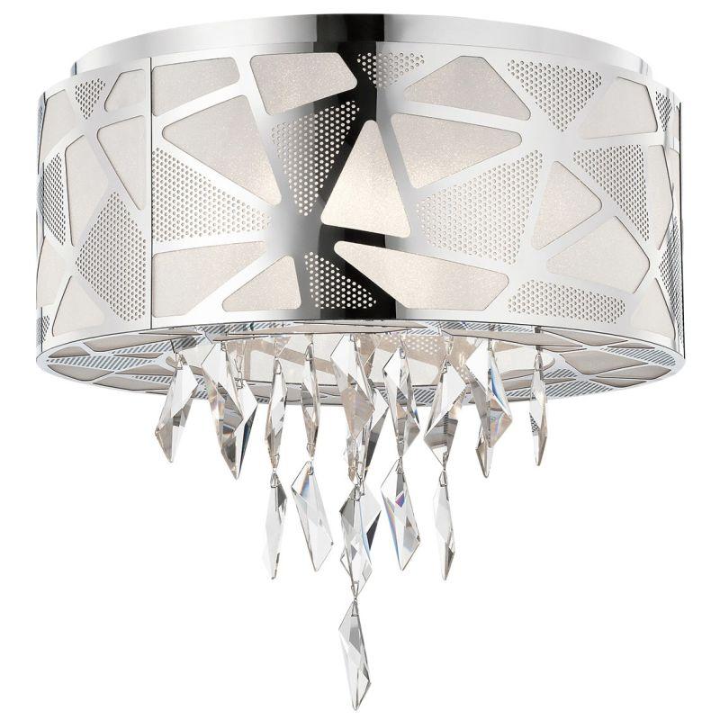 Elan Angelique Flushmount Angelique Flushmount Chrome Indoor Lighting