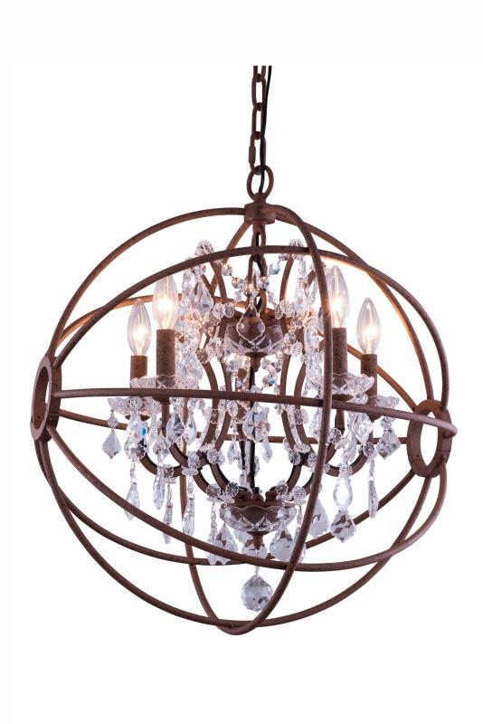 """Elegant Lighting 1130D17 Geneva 17"""" Wide 4 Light Chandelier from the"""
