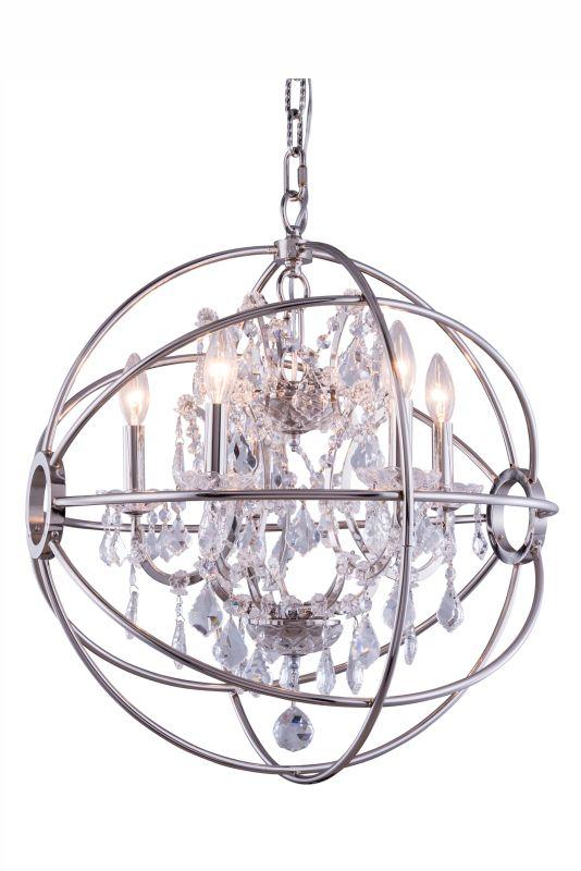 """Elegant Lighting 1130D20 Geneva 20"""" Wide 5 Light Chandelier from the"""