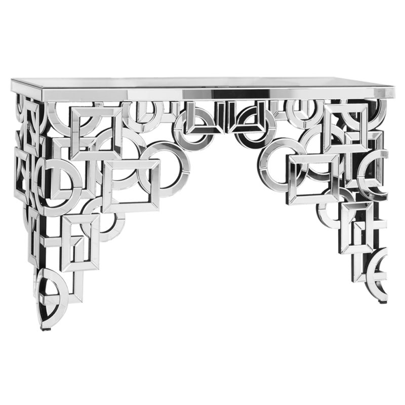 "Elegant Lighting MF-3002 18"" Wide Console Table with Mirrored Finish"