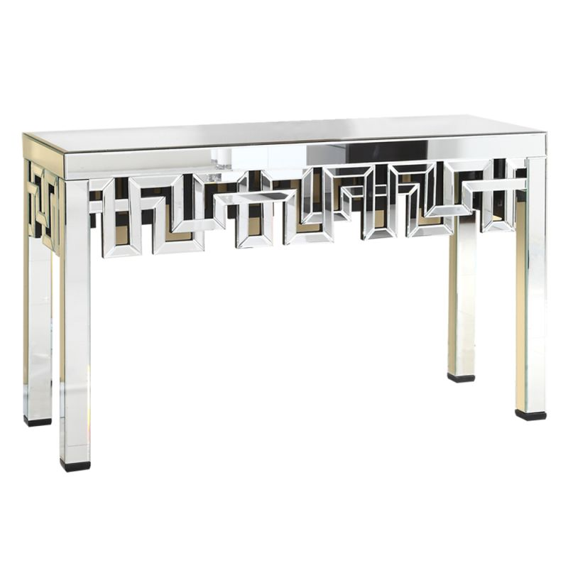 "Elegant Lighting MF-3003 16"" Wide Console Table with Mirrored Finish"