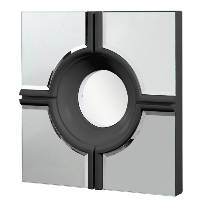 "Elegant Lighting MR-3018 24"" Wide Mirror from the Modern Collection Sale $115.20 ITEM#: 2795230 MODEL# :MR-3018BK UPC#: 848145011587 :"