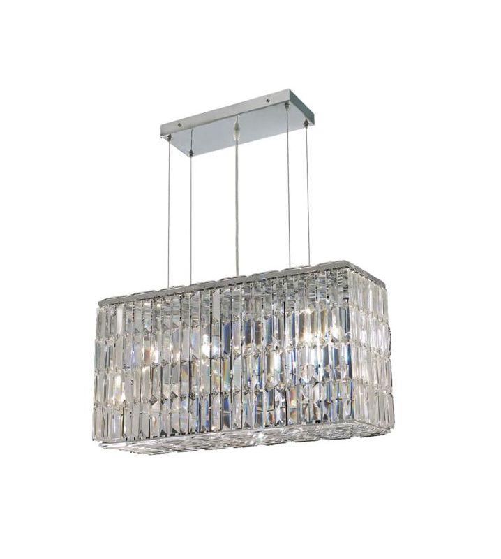 Elegant Lighting 2018D26C Maxim 8-Light Crystal Chandelier Finished