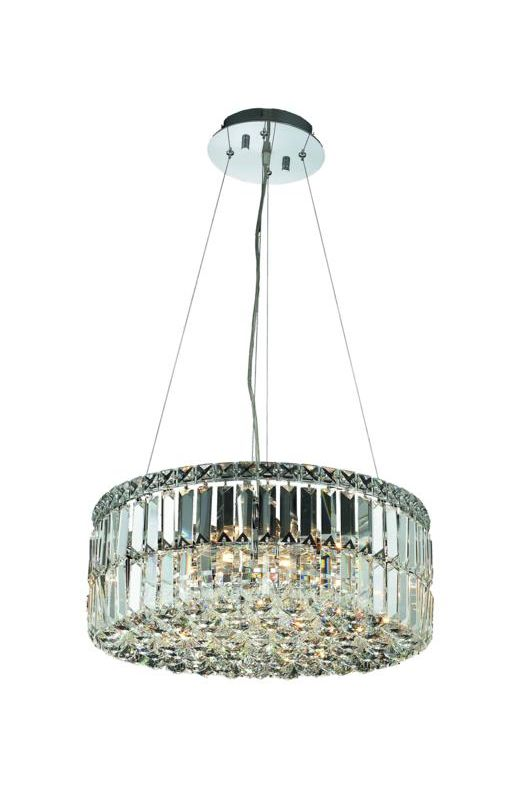 Elegant Lighting 2030D20C Maxim 12-Light Crystal Pendant Finished in