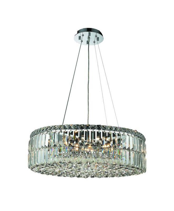 Elegant Lighting 2030D24C Maxim 12-Light Crystal Pendant Finished in
