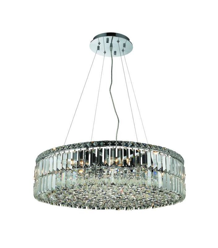 Elegant Lighting 2030D28C Maxim 12-Light Crystal Pendant Finished in