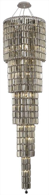 Elegant Lighting 2030G80C-GT Maxim 22-Light Five-Tier Crystal