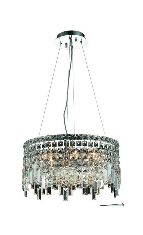 Elegant Lighting 2031D20C Maxim 12-Light Crystal Pendant Finished in