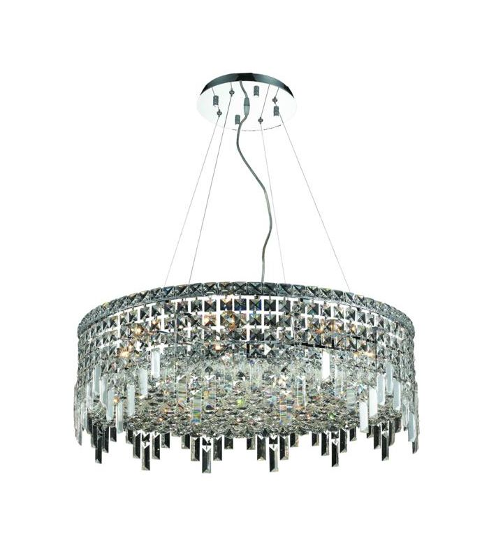 Elegant Lighting 2031D28C Maxim 12-Light Crystal Pendant Finished in