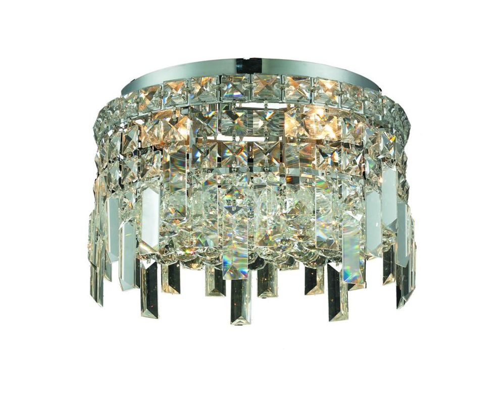Elegant Lighting 2031F12C Maxim 4-Light Single-Tier Flush Mount Sale $1352.00 ITEM#: 2013422 MODEL# :2031F12C/SA UPC#: 848145039468 :