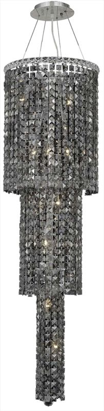 Elegant Lighting 2031G54C-SS Maxim 12-Light Three-Tier Crystal Sale $11094.00 ITEM#: 2013447 MODEL# :2031G54C-SS/SS UPC#: 848145039710 :