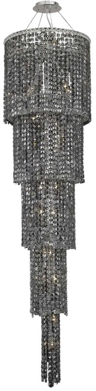 Elegant Lighting 2031G80C-SS Maxim 22-Light Five-Tier Crystal Sale $6490.00 ITEM#: 2013462 MODEL# :2031G80C-SS/RC UPC#: 848145039864 :
