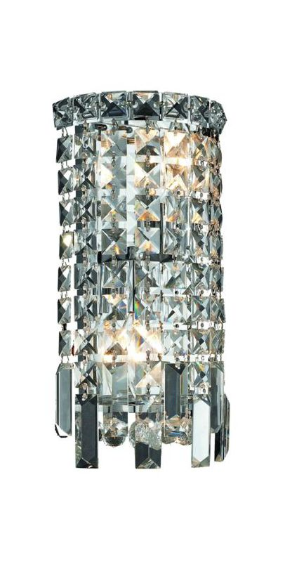 Elegant Lighting 2031W6C Maxim 2-Light Crystal Wall Sconce Finished Sale $1136.00 ITEM#: 2013467 MODEL# :2031W6C/SS UPC#: 848145039918 :