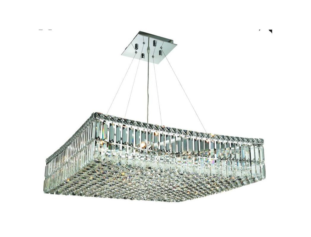 Elegant Lighting 2032D28C Maxim 12-Light Crystal Pendant Finished in