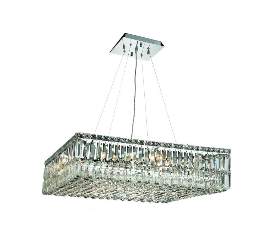 Elegant Lighting 2032D32C Maxim 12-Light Crystal Pendant Finished in
