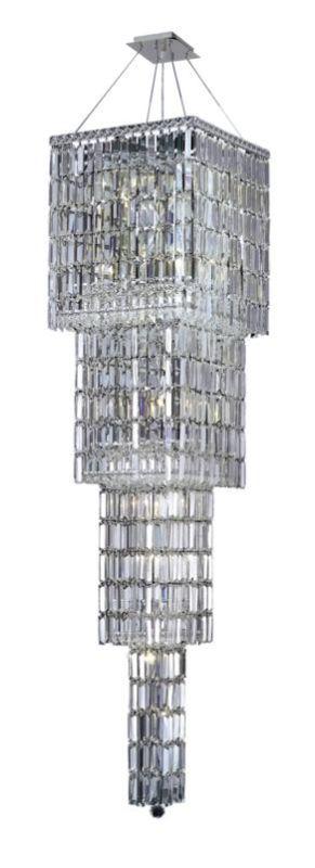 Elegant Lighting 2032G66C Maxim 18-Light Four-Tier Crystal
