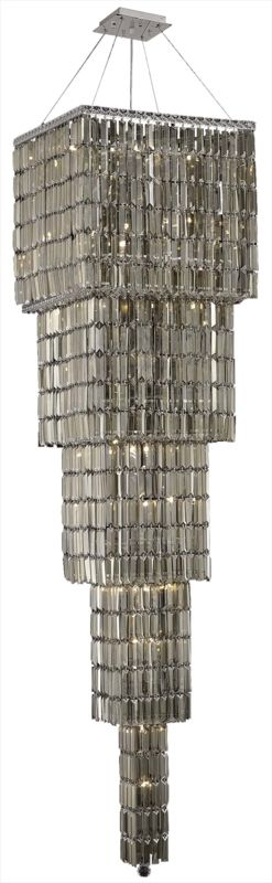 Elegant Lighting 2032G80C-GT Maxim 22-Light Five-Tier Crystal
