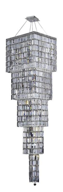 Elegant Lighting 2032G80C Maxim 22-Light 4 Tier Crystal Chandelier