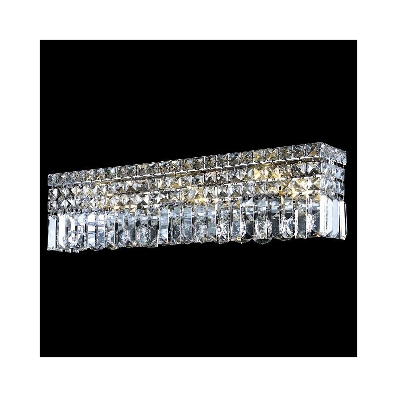 Elegant Lighting 2032W26C Maxim 6-Light Crystal Wall Sconce Finished