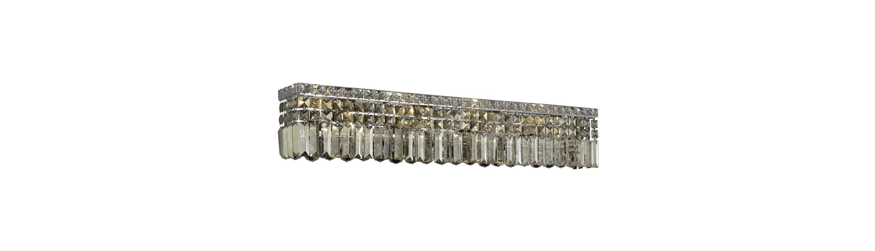 Elegant Lighting 2032W36C-GT Maxim 8-Light Crystal Wall Sconce