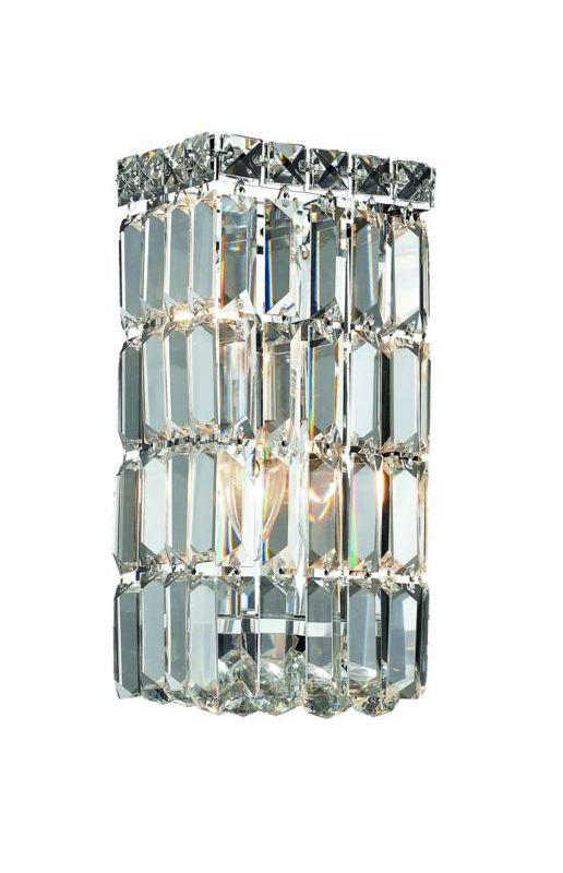 Elegant Lighting 2032W6C Maxim 2-Light Crystal Wall Sconce Finished