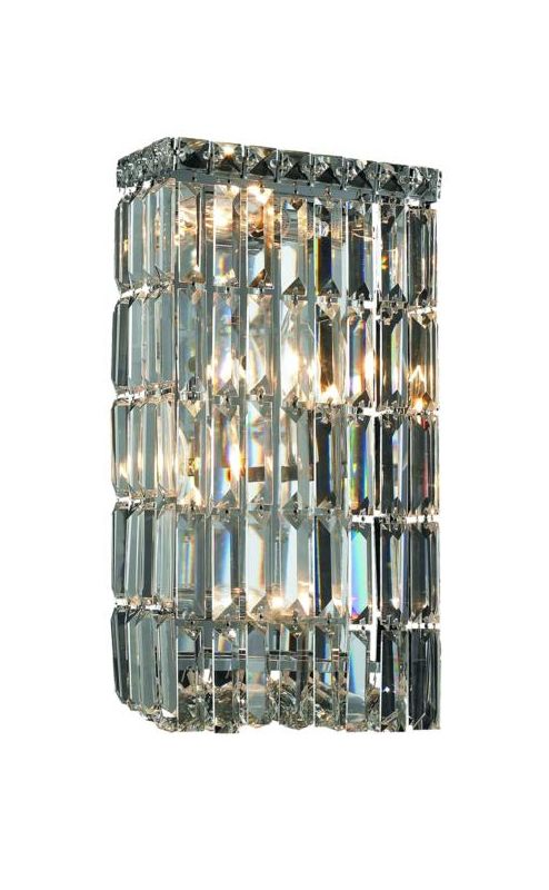 Elegant Lighting 2032W8C Maxim 4-Light Crystal Wall Sconce Finished
