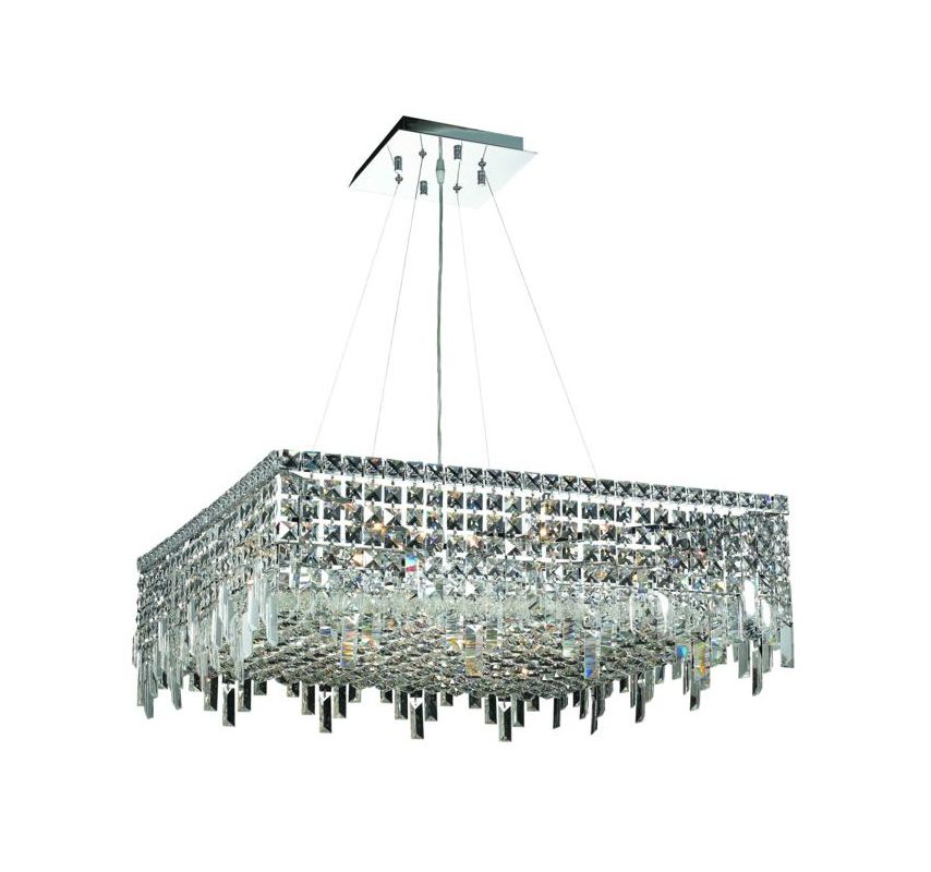 Elegant Lighting 2033D28C Maxim 12-Light Crystal Pendant Finished in