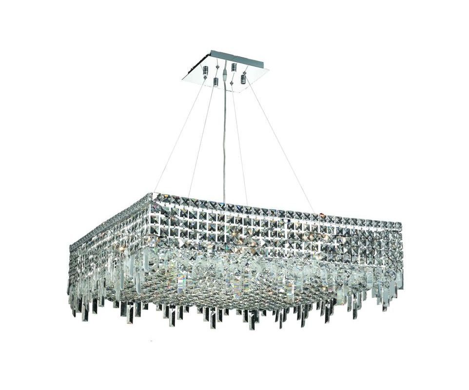 Elegant Lighting 2033D32C Maxim 12-Light Crystal Pendant Finished in