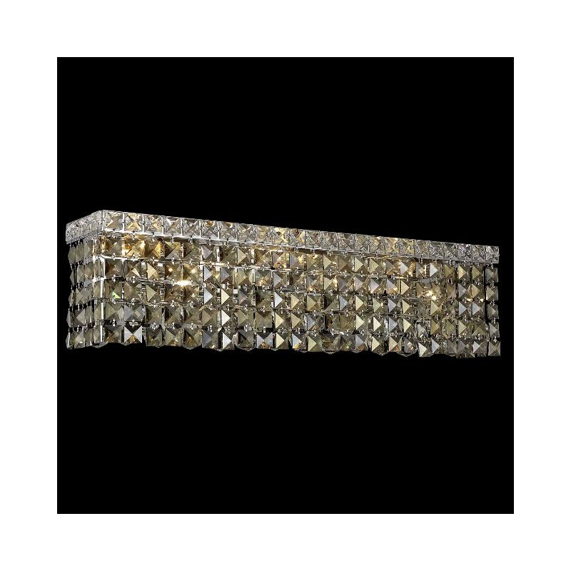 Elegant Lighting 2033W26C-GT Maxim 6-Light Crystal Wall Sconce