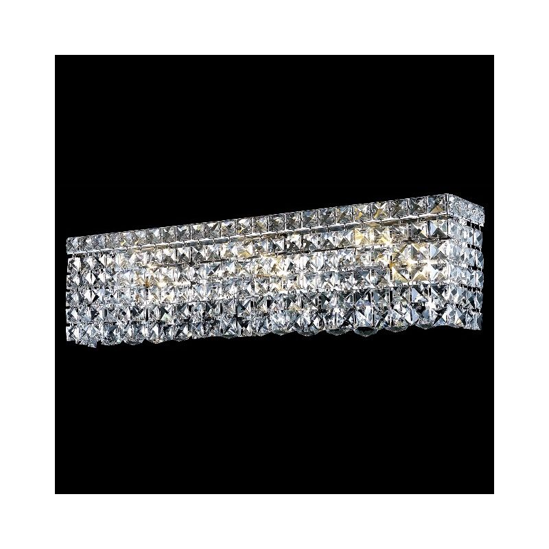 Elegant Lighting 2033W26C Maxim 6-Light Crystal Wall Sconce Finished