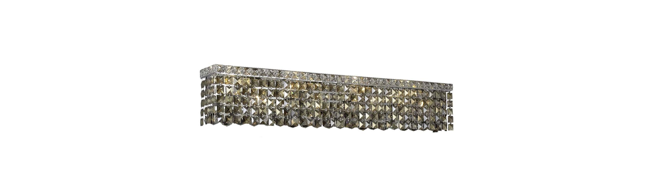 Elegant Lighting 2033W36C-GT Maxim 8-Light Crystal Wall Sconce