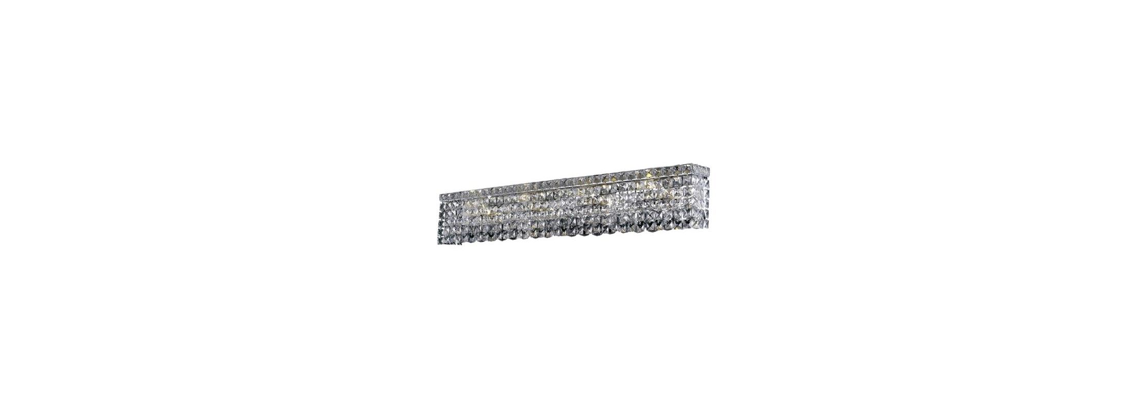 Elegant Lighting 2033W36C Maxim 8-Light Crystal Wall Sconce Finished