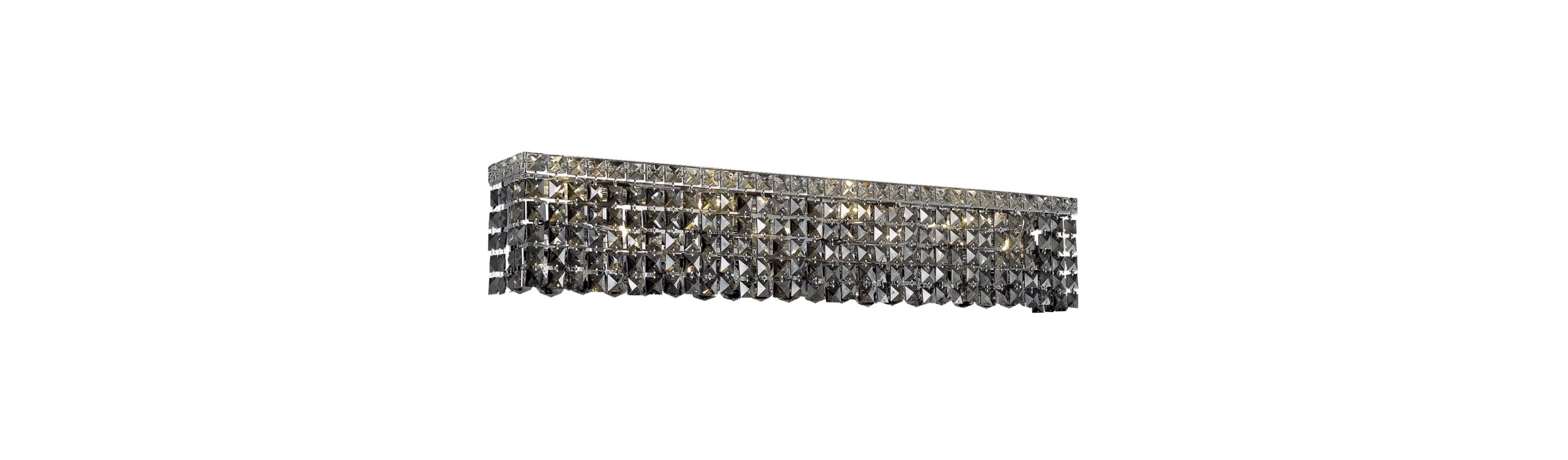Elegant Lighting 2033W36C-SS Maxim 8-Light Crystal Wall Sconce