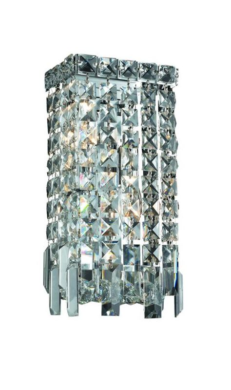 Elegant Lighting 2033W6C Maxim 2-Light Crystal Wall Sconce Finished Sale $564.00 ITEM#: 2013638 MODEL# :2033W6C/SA UPC#: 848145041980 :