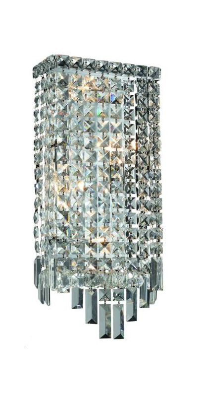 Elegant Lighting 2033W8C Maxim 4-Light Crystal Wall Sconce Finished