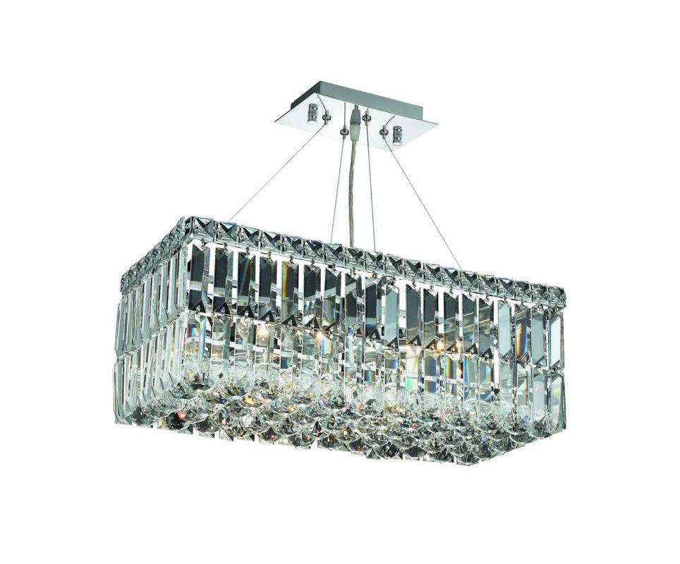 Elegant Lighting 2034D20C Maxim 4-Light Crystal Chandelier Finished