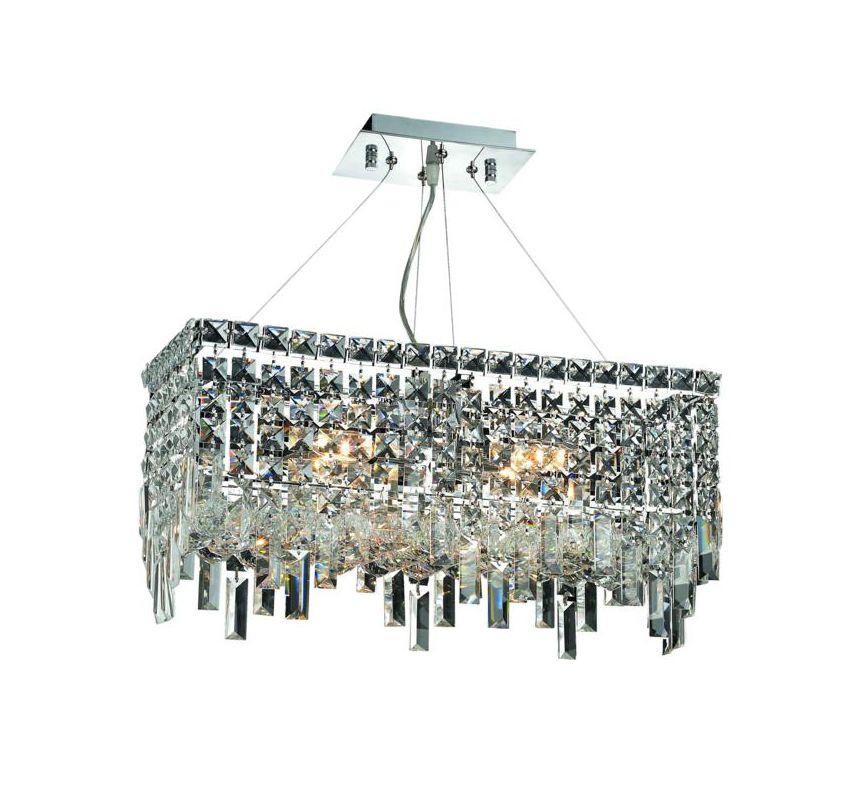 Elegant Lighting 2035D20C Maxim 4-Light Crystal Chandelier Finished