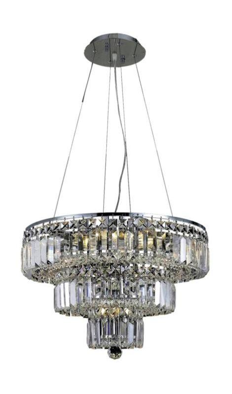 Elegant Lighting 2036D20C Maxim 9-Light Three-Tier Crystal Sale $1886.00 ITEM#: 2013710 MODEL# :2036D20C/SA UPC#: 848145042703 :