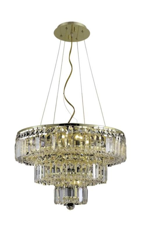 Elegant Lighting 2036D20G Maxim 9-Light Three-Tier Crystal Sale $1886.00 ITEM#: 2013716 MODEL# :2036D20G/SA UPC#: 848145042765 :
