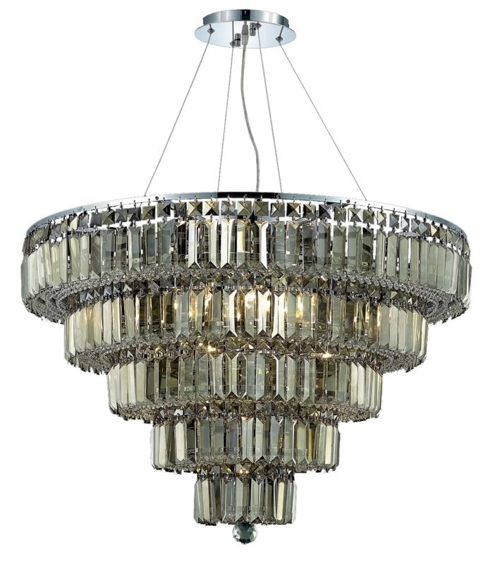 Elegant Lighting 2036D30C-GT Maxim 17-Light Five-Tier Crystal