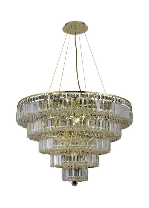Elegant Lighting 2036D30G Maxim 17-Light Five-Tier Crystal