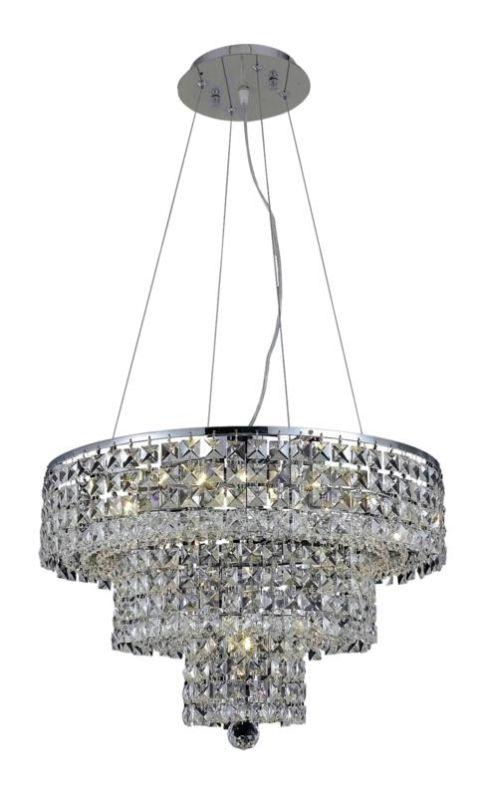 Elegant Lighting 2037D20C Maxim 9-Light Three-Tier Crystal Sale $3174.00 ITEM#: 2013741 MODEL# :2037D20C/SS UPC#: 848145043014 :