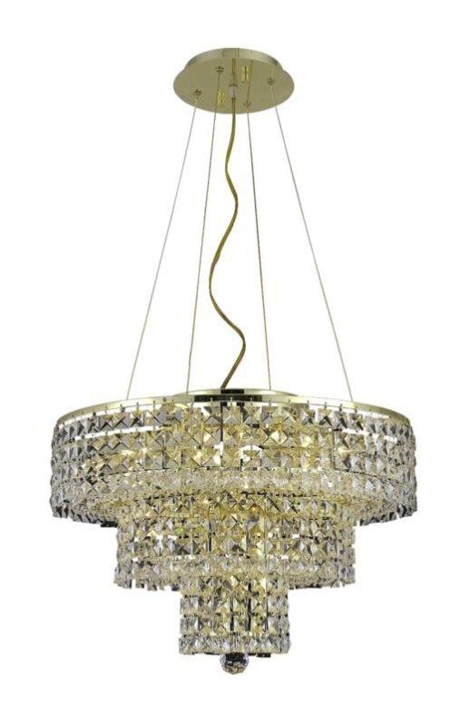 Elegant Lighting 2037D20G Maxim 9-Light Three-Tier Crystal Sale $1340.00 ITEM#: 2013746 MODEL# :2037D20G/RC UPC#: 848145043076 :