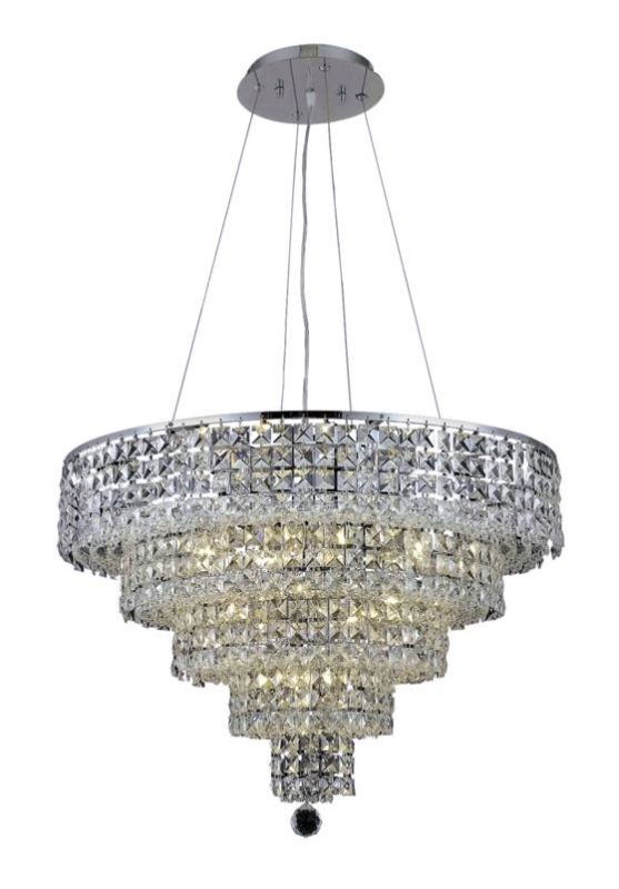 Elegant Lighting 2037D26C Maxim 14-Light Five-Tier Crystal Sale $3576.00 ITEM#: 2013752 MODEL# :2037D26C/SA UPC#: 848145043120 :