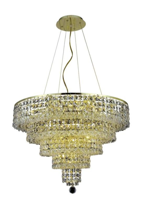 Elegant Lighting 2037D26G Maxim 14-Light Five-Tier Crystal Sale $3576.00 ITEM#: 2013760 MODEL# :2037D26G/SA UPC#: 848145043205 :