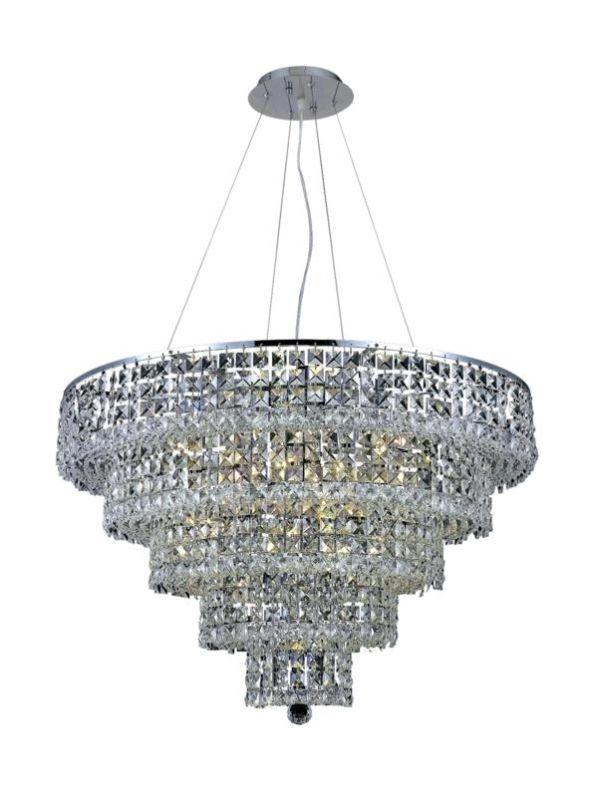 Elegant Lighting 2037D30C Maxim 17-Light Five-Tier Crystal Sale $4512.00 ITEM#: 2013764 MODEL# :2037D30C/SA UPC#: 848145043243 :