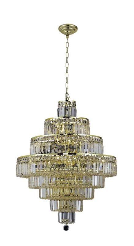 Elegant Lighting 2038D26G Maxim 18-Light Eight-Tier Crystal