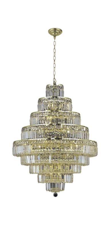 Elegant Lighting 2038D30G Maxim 20-Light Nine-Tier Crystal Sale $6036.00 ITEM#: 2013802 MODEL# :2038D30G/SA UPC#: 848145043625 :