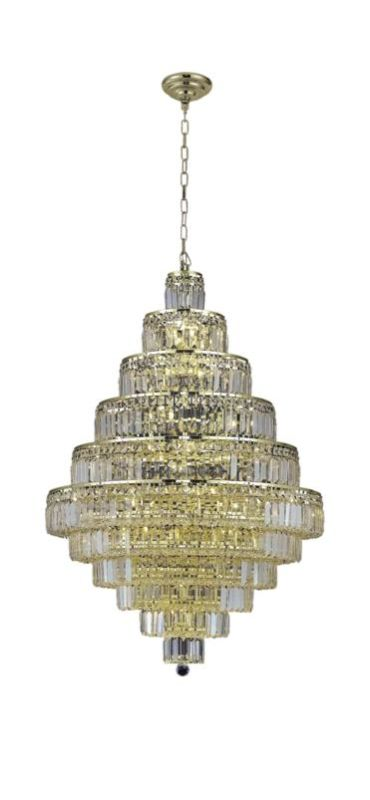 Elegant Lighting 2038D32G Maxim 30-Light Eleven-Tier Crystal