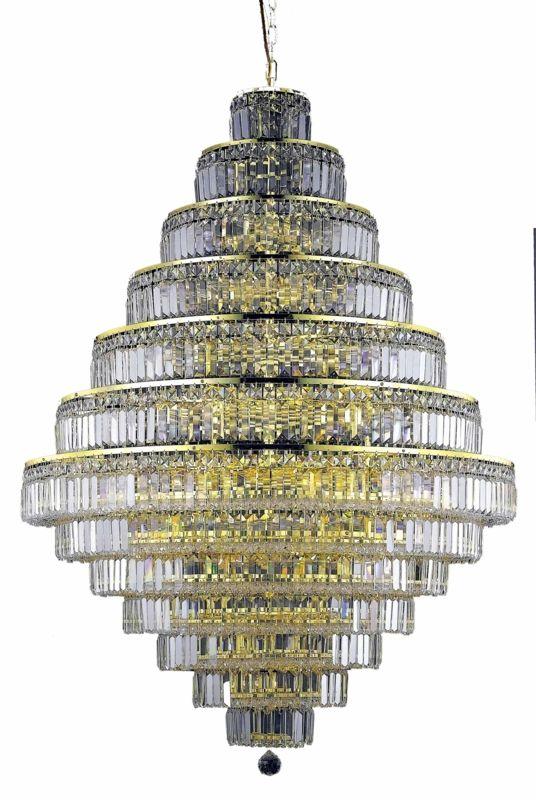 Elegant Lighting 2038G42G Maxim 38-Light Thirteen-Tier Crystal